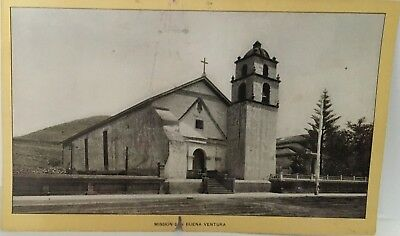 SAN BUENA VENTURA MISSION Singer Sewing photo view Advertising Card