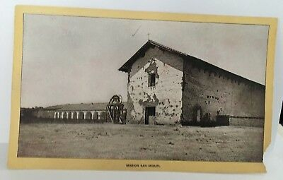 SAN MIGUEL MISSION Singer Sewing photo view Advertising Card  CA