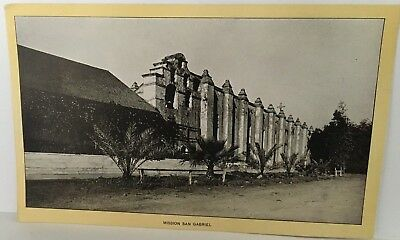 SAN GABRIEL MISSION Singer Sewing photo view Advertising Card  CA