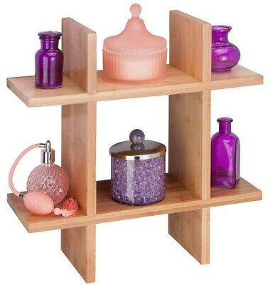 Grid-Shaped Shelf Decorative Wall Honey Can Do Bamboo Storage Cubes Durable