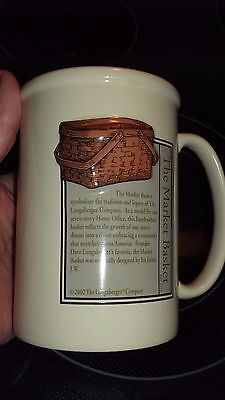 Vintage 20 oz. Longaberger 2002 The Market Basket Tall Mug cup RARE Collectible!