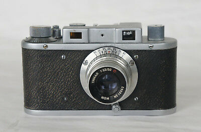 Mometta Mom rangefinder ymmar f/3.5 50mm 24x32mm photo camera 1953 Budapest