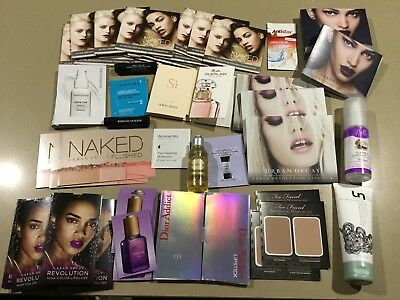 Lot of 50 X High End Mixed Sample Single Use/Travel Makeup/Skin Care Items - NEW