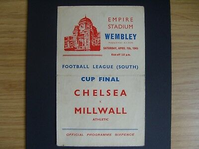 1945 WARTIME FOOTBALL LEAGUE [SOUTH] FINAL  CHELSEA v MILLWALL @ Wembley