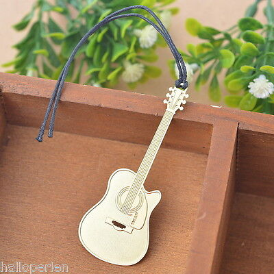 1PC Bookmarks Guitar Chic Reading Gift Office Supplies Exquisite Art Craft