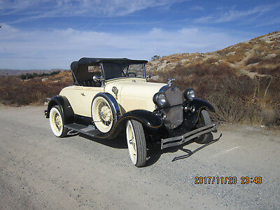 1928 Ford Model A Black and Cream 1979 shay replica 1928 ford model A