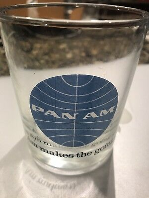 Vintage Advertising Pan Am Airline Cocktail Tumbler Glass