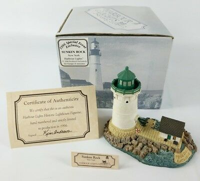 Harbour Lights Lighthouse, 1996 Special Event Exclusive, Sunken Rock NY Box/COA