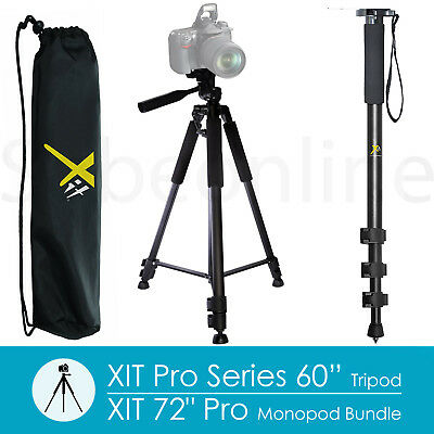 "60"" Tripod + 72""Monopod For Canon EOS Rebel 7D 6D T6i T5i T4i T3i SL1&2 Camera"