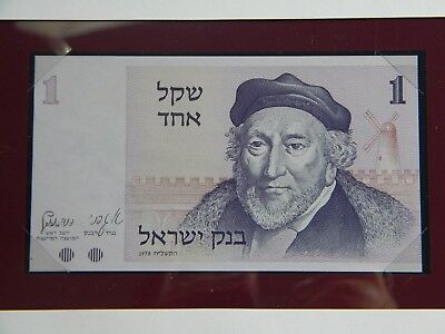 Israel Banknote**one Shekel**crisp Unc In Original Envelope With Stamp