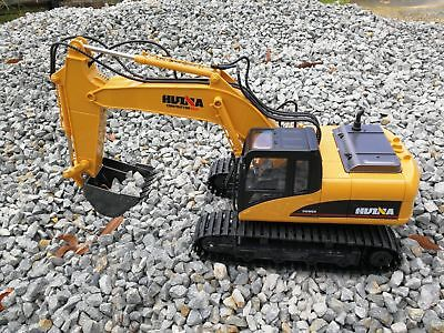 Store Remote Control HUINA 1:14 2.4GHz 15CH RC Alloy Excavator RTR with Independ