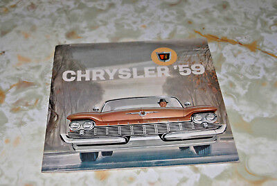 Sales Brochure For A Chrysler '59, Printed In Canada.