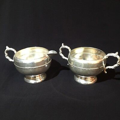Antique Silverplate Sugar And Cream Pair
