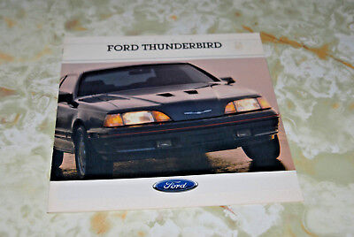 Sales  Brochure For A 1988 Ford Thundbird, Printed In Canada 9/87.
