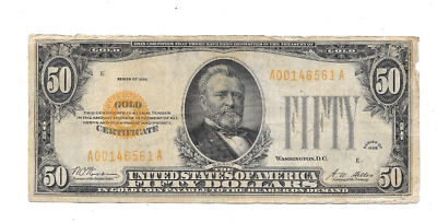 Tougher 1928 $50 Small Gold Certificate