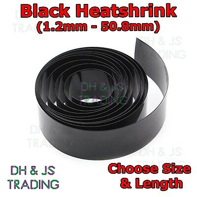 Black Heat Shrink 2:1 Car Electrical Tube Sleeving Cable - All Sizes & Lengths