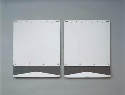 Putco 79461 Mud Flap Stainless Steel w/Rubber Extensions 10 in. x 18 in.