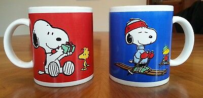 Peanuts Snoopy Christmas Mugs Cup Holiday gifts , Skiing