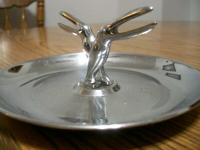 Silver Pelican Toucan Retro Dish Ashtray Reg. U. S. Pat Off. Silver Plated