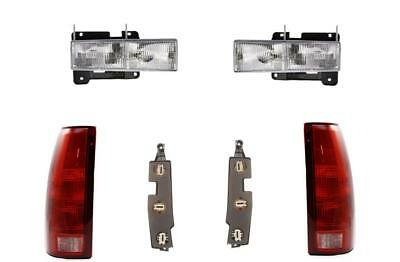 88-98 Chevy GMC Truck For Headlights Tail Lights W/Boards 92-99 Suburban Tahoe