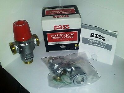 Boss 15mm Thermostatic Blending Mixing Valve + All fittings, sealed, manual TMV2