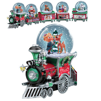 Rudolph The Red Nosed Reindeer Misfits Toys Water  Snow Globe Dome Train #1 Only