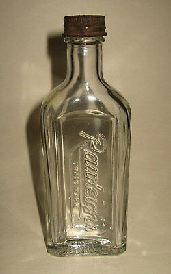 Old Vintage Rawleigh's Embossed Clear Glass Medicine Bottle w/ Cap Pharamacy