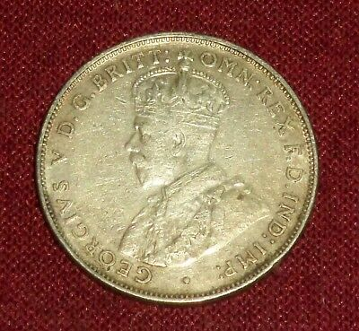Scarce Australia 1934 King George V Silver Florin, High Grade Regular Issue