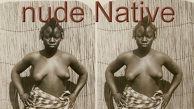 18 Stereofotos Stereoviews nude Native Afrika - Motive um 1900, Serie 3