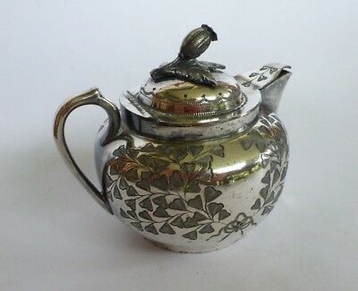 Silver Plated 1800s TRUROX 310 Sheffield Victorian Teapot Pitcher Etched England