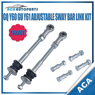 Fit GQ Y60 GU Y61 Nissan Patrol Front Extended Adjustable Sway Bar Link 2-8 Inch