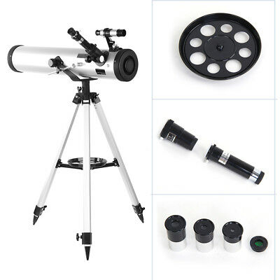 Performance 76 x 700 Reflector Astronomy Telescope Adjustable  Tripod Lens Cover