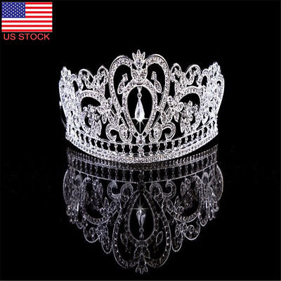 Princess Crown Headband Crystal Rhinestone Tiara Wedding Bridal Hair Accessories