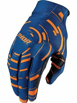 Motocross Handschuhe Thor Void Plus Navy Blau Orange Offroad Cross XS S !Sale!