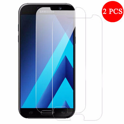 2Pcs Tempered Glass Screen Protector For Samsung Galaxy A3 A5 A7 2017 A6 A8 2018