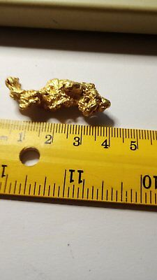 Natural Australian  Sparkling Gold Nugget  19.87 grams