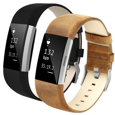 Premium Vintage Genuine Leather Adjustable Sport band for Fitbit Charge 2