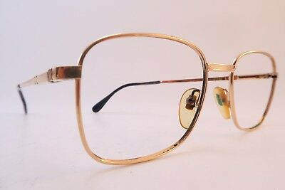 Vintage Henry Jullien eyeglasses frames gold filled Mod COUGAR 51-18 France