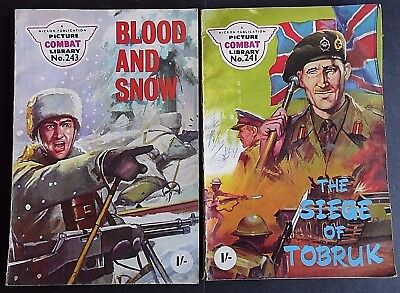 Vintage, Picture Combat Library Comics, x 2, from the 1960s. Nos 241 & 243