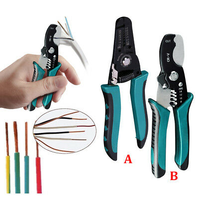 Professional Wire Cable Striper Cutter Stripper Crimper Pliers Electrical Tools