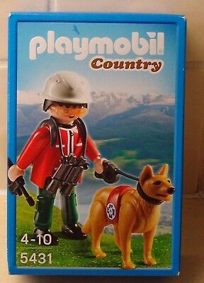 CHIEN PLAYMOBIL 9128 DOG OF RESCUE CANE ¡CONDITION NEW DOG