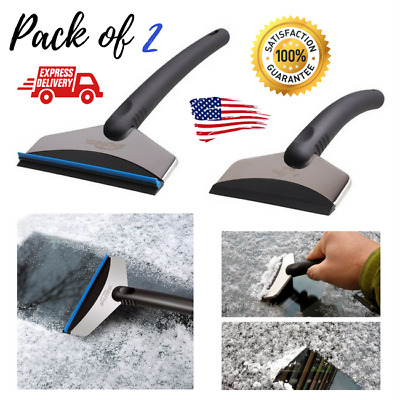 2PCS Ice Snow Scraper Car Frost Heavy Duty Window Removal Windshield ABS Blade