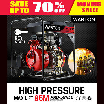 NEW WARTON 8HP Diesel High Pressure Water Pump Irrigation Farm Fire Fighting