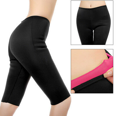 Ladies Thermo Sweat Hot Neoprene Body Shaper Pants Slimming Waist Trainer Yoga