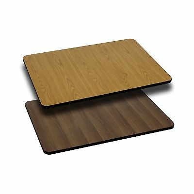 Flash Furniture 24'' x 42'' Rectangular Table Top with Natural or Walnut Reve...