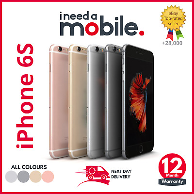 Apple iPhone 6S - Unlocked - All Colours - 12 MONTH WARRANTY