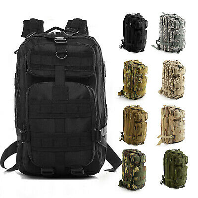 30L Military Tactical Rucksacks Camping Hiking Backpack Trekking Bag UK Seller