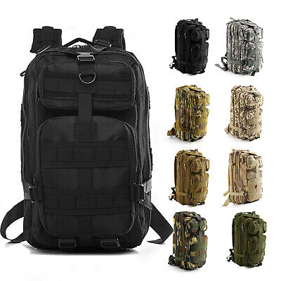 Military Tactical Army Backpack Rucksack Camping Hiking Trekking Outdoor Bag UK