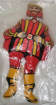 "Vintage Burger King ""THE KING"" Plush Cloth 13"" Doll Fast Food Advertising NEW"