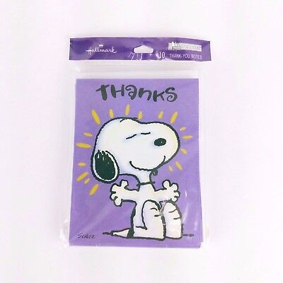 "Snoopy Peanuts Thank You Cards 10 Pack ""You Really Made Me Feel Special"" NEW"
